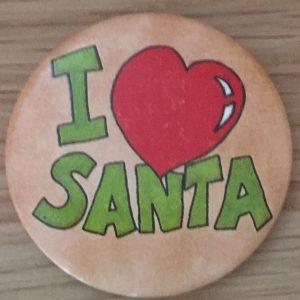 I heart santa badge